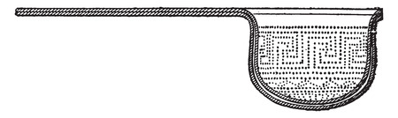 sieve: Strainer for wine mixes with the snow, vintage engraved illustration.