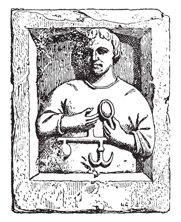 merchant: Merchant, vintage engraved illustration. Illustration
