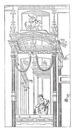 Architectural representation, vintage engraved illustration.