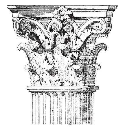 vendicatore: Tenda del Tempio di Marte Vendicatore, vintage illustrazione inciso.