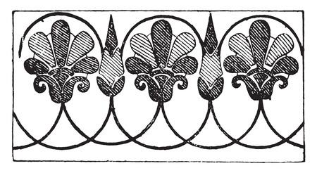 Greek ornament, vintage engraved illustration.