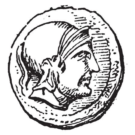 Roman, vintage engraved illustration.
