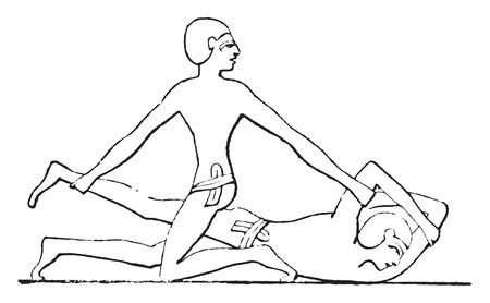 loser: The loser has put down, vintage engraved illustration. Illustration