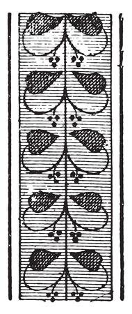 Greek ornament from vases, vintage engraved illustration.