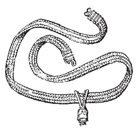 Chain, vintage engraved illustration. Ilustracja