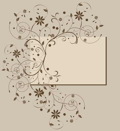 Vector floral background with place for your text Vettoriali