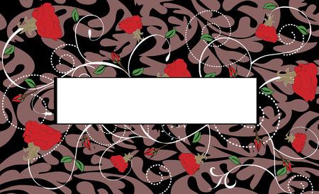Spring floral background met plaats voor uw tekst Stock Illustratie