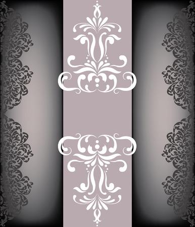 damask background: Ornate card announcement Illustration