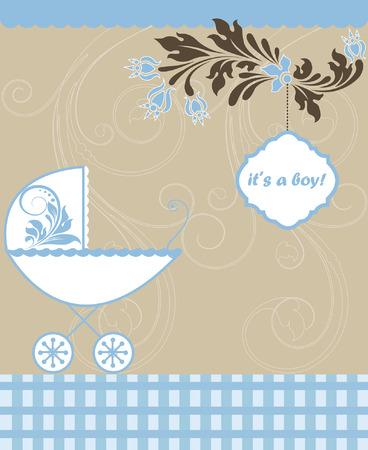 announcement: Baby shower announcement Illustration