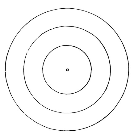 Progressieve condensatie van de Zon van de baan van de aarde, vintage gegraveerde illustratie. Aarde voordat de mens - 1886. Stock Illustratie