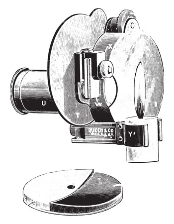 capillary: Dares hemoglobinometer, vintage engraved illustration.