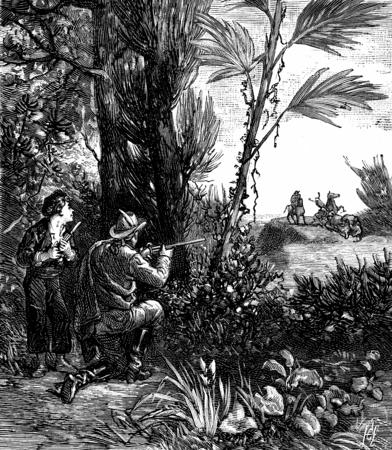 bandits: Bandits of the sea. Boileau fired, vintage engraved illustration. Journal des Voyages, Travel Journal, (1879-80).