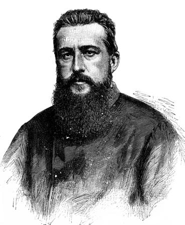 Paul Soleillet, vintage engraved illustration. Journal des Voyage, Travel Journal, (1880-81).