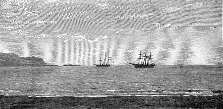 panama: The harbor of Panama, vintage engraved illustration. Journal des Voyages, Travel Journal, (1879-80).