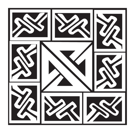 celtic pattern: A vector illustration of a Celtic pattern and knot