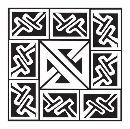 keltische muster: Ein Vektor-Illustration eines keltischen Muster und Knoten