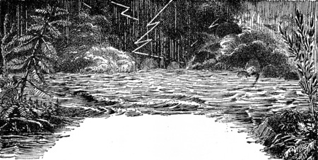 生命の起源、ヴィンテージには、図が刻まれています。男-1886 前に地球。