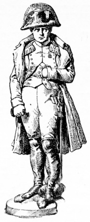 The ancient statue of the Vendome column today at the Invalides, vintage engraved illustration. Paris - Auguste VITU – 1890.