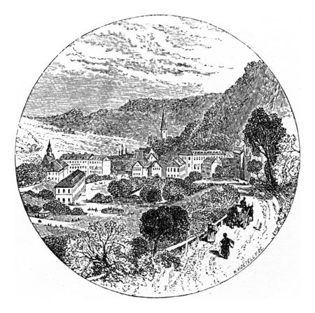 ランゲン、ヴィンテージには、図が刻まれています。Chemin des グヴィー、1861。