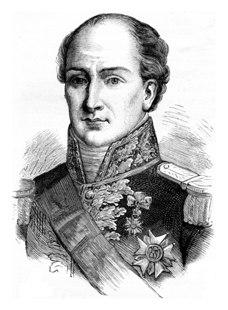 napoleon: General Eble, vintage engraved illustration. History of France – 1885.
