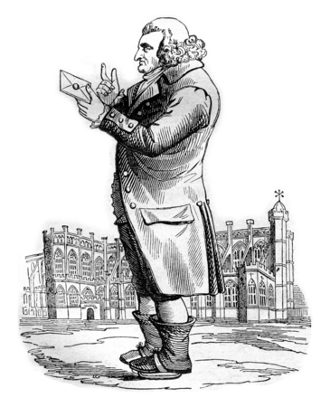 John Dinely, vintage engraved illustration. Magasin Pittoresque 1842.