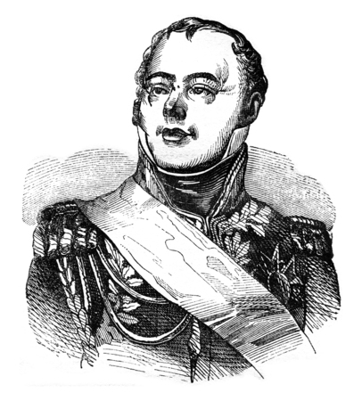 Etienne McDonald, vintage engraved illustration. Magasin Pittoresque 1841. Stock Illustration - 72301702