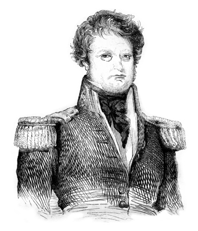 cartographer: Admiral Dumont dUrville, vintage engraved illustration. Magasin Pittoresque 1842.