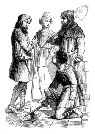 artisan: Artisans, workers and bourgeois, vintage engraved illustration. Magasin Pittoresque 1844. Stock Photo