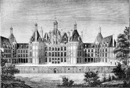 ルネッサンス時代には、シャンボール、近いブロワ ヴィンテージ刻まれた図。マガシンドス Pittoresque 1842。