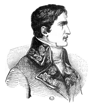 Lucien Bonaparte, vintage engraved illustration. Magasin Pittoresque 1841. Stock Photo
