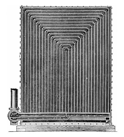 Air Heater Sturtevant, vintage engraved illustration. Zdjęcie Seryjne
