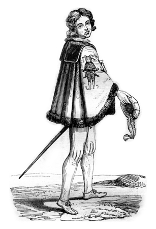 Knight of the Order of Fools, has Cleves, vintage engraved illustration. Magasin Pittoresque 1842. Stock Photo