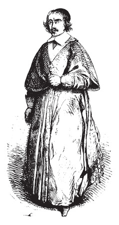 De Gondi, coadjutor, vintage engraved illustration. Magasin Pittoresque 1844.