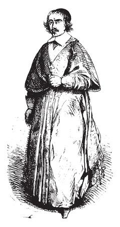 De Gondi, coadjutor, 빈티지 새겨진 일러스트. Magasin Pittoresque 1844. 스톡 콘텐츠 - 107172430