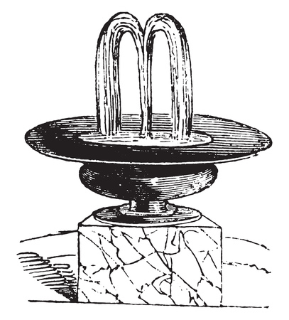 Arabesque discovered at Pompeii, vintage engraved illustration. Magasin Pittoresque 1841.