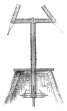 Telegraphs, vintage engraved illustration. Magasin Pittoresque 1846.  Illustration