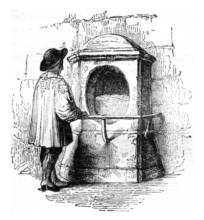 The Stone of London, vintage engraved illustration. Magasin Pittoresque 1841. Stock Photo