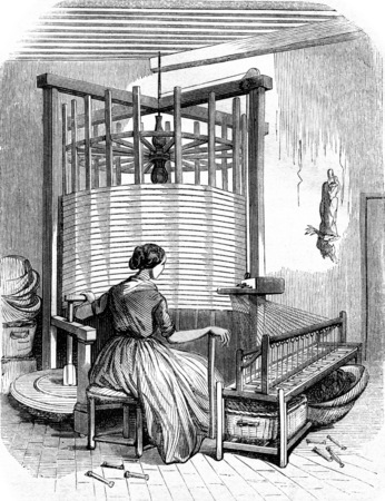 Warping, vintage engraved illustration. Magasin Pittoresque 1855.