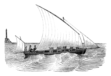 Guigue as close as possible, viewed from the side, vintage engraved illustration. Magasin Pittoresque 1841. Reklamní fotografie