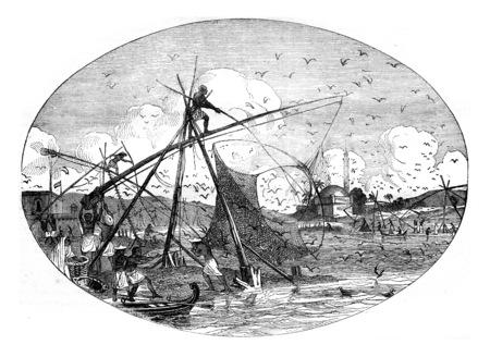 Manufacture of sèvres, vintage engraved illustration. Magasin Pittoresque 1841.