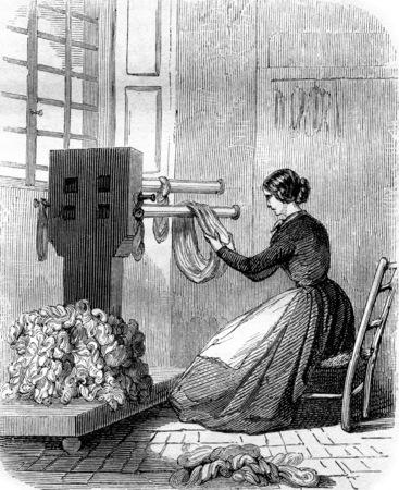 Handling, vintage engraved illustration. Magasin Pittoresque 1855. Foto de archivo - 107852668