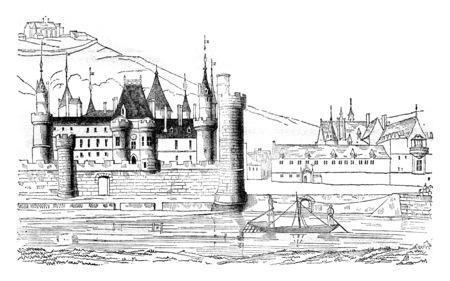 vintage engraved illustration. Magasin Pittoresque 1841. Stock Illustration - 107853097