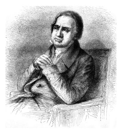 Ballanche, vintage engraved illustration. Magasin Pittoresque 1858.