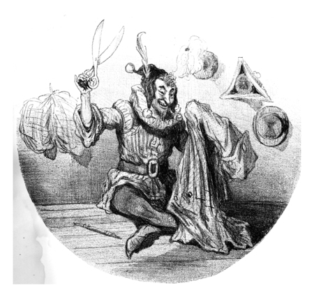 The tortures of fashion, vintage engraved illustration. From The Tortures of Fashion.