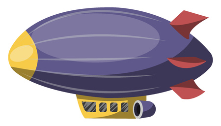 Big purple aircraft vector illustration on white background. Çizim