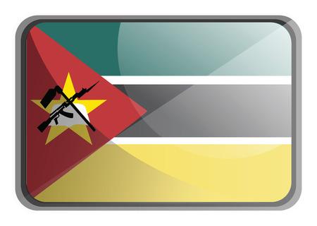Vector illustration of Mozambique flag on white background. Vektoros illusztráció