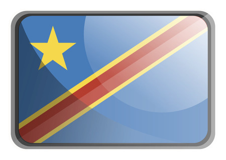 Vector illustration of Democratic republic of Congo flag on white background.