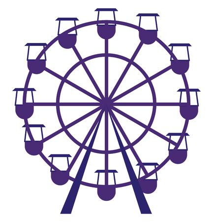 Purple carousel vector illustration on white background.