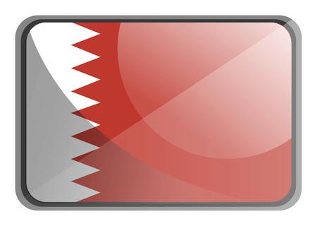 Vector illustration of Bahrain flag on white background.