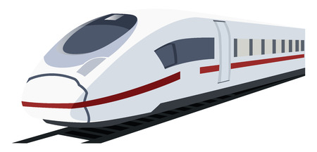 Vector illustration of white metro train.